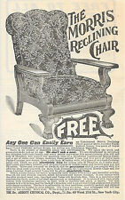 1901 MORRIS RECLINING UPHOLSTERED CHAIR AD DR. ABBOTT CHEMICAL CO. NEW YORK CITY