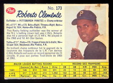 1962 POST CANADIAN baseball 173 Roberto bob Clemente EX+ Pittsburgh Pirates card