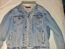 Vintage 1980's very well worn Katharine Hamnett Jean Jacket