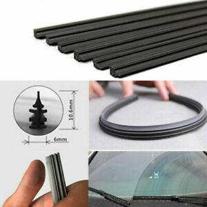 2x 26'' 650mm Rubber Wiper Blade Refill Frameless Universal Auto Car Windshield