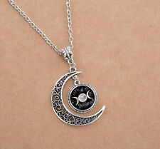 New Handmade Witchcraft  The Moon And Back Necklace Silver plated SK3