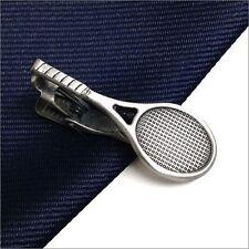 RooZee Tie Clip Bar Tie Made Japan Pin Tennis Racket Unique Tie Clasps & Tacks