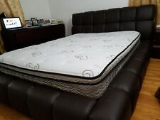 bedroom set, black color, bed quin size, in total includes 4 pieces of furniture
