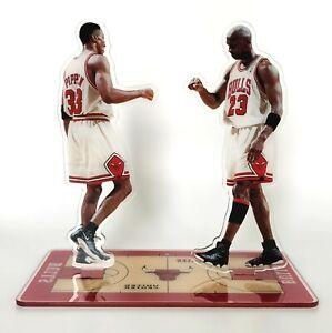 Michael Jordan & Scottie Pippen Standing Figures Chicago Bulls Legend Last Dance