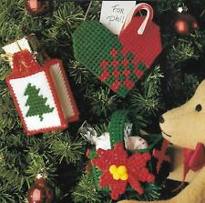 Festive Christmas Ornaments plastic canvas PATTERN INSTRUCTIONS