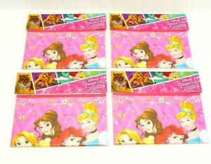 LOT OF 4 -Disney Princess Treat Loot Bags 8 ct Party Favors Supplies Ariel Belle