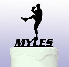 Personalised Baseball Pitcher Acrylic Cake Topper