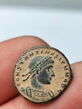 Constantin II , superbe nummus Héraclée  ( GLOR-IA EXERCITVS) 2,28 g