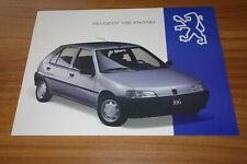 Dépliant Peugeot 106 XN / XND de 1994