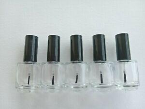1 x Nagel Lack Glasflasche Lackflasche mit Pinsel 15ml NEU leer zum befüllen
