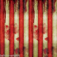 Halloween CREEPY CARNIVAL Bloody Circus Tent Scene Setter Room Roll Decoration