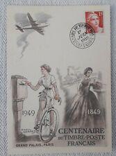 enveloppe premier 1 er jour marianne gandon 15 fr centenaire du timbre 1849-1949