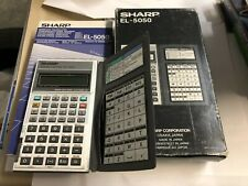 Vintage EL-5050 sharp Scientific Calculator In Box With Manual Algebraic Logic