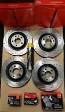 FITS MINI HATCH JCW R56 1.6 12-16 DRILLED GROOVED FRONT & REAR DISCS + APEC PADS