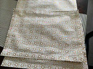 Set of 4 Crate & Barrel Helene Gold Pattern Placemats