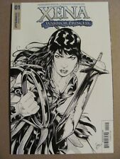 Xena Warrior Princess #1 Dynamite 2017 Series 1:20 B&W Variant 9.6 Near Mint+
