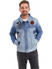Joe Browns Men's Denim Jacket Appliques Union Jack Branded Buttons RRP £60 BNWT