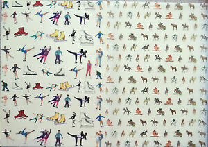 2 x A4 Sheets Ice Dance/Skating or Equestrian/Horse Riding Vellum 112gsm NEW