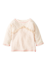 Lucky Brand Big Girl's Topanga Canyon Antique White Heather Pullover, Size Small