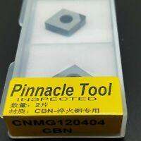 2pcs CNMG120404 CBN  INSERT for steel process diamond High hardness carbide bits