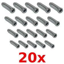 20x EMBOUT DE CABLE FREIN DERAILLEUR 2.3MM ARGENT VELO VTT ROUTE VINTAGE BMX