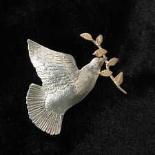 Olive Branch Pin / Brooch Courtney Peterson Sterling Silver Dove with