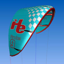 New 2015 9m2, flyHelium Aruba kiteboarding Kite (Blue). Ideal for all levels.