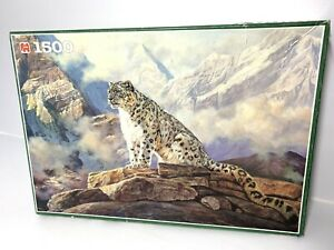 JUMBO 1500 PIECE JIGSAW PUZZLE - SNOW LEOPARD MOUNTAIN DOMAIN WILLIAM S DE BEER