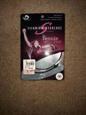 """Phiten Titanium Necklace Jenny Finch Pink and Black 18"""" Orig. 39.99"""