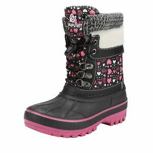 Youth Boys Girls Kids Insulated Waterproof Mid-calf Winter Warm Ski Snow Boots