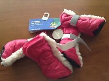NEW Top Paw Reflective HOT PINK Booties for Dogs, Size Small