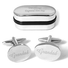 Grandad Cufflinks Personalised Engraving Gift Box Xmas Wedding Birthday Present