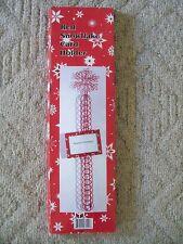 2 RED SNOWFLAKE CHRISTMAS CARD HOLDERS