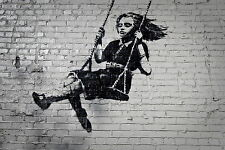 canvas BANKSY GIRL PARK A1 SIZE PRINT FOR YOUR FRAME