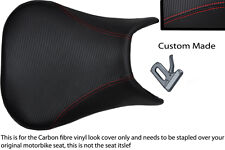 red stitch CUSTOM 99-02 FITS YAMAHA 600 YZF R6 CARBON FIBER VINYL SEAT COVER
