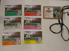 2001 34TH RYDER CUP GOLF TOURNAMENT TICKETS & PASSES COLLECTION  B      TUB C