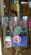 All Clear See Thru Vinyl Jelly Purse Shopping Tote Bag NFL Stadium Policy 12x12