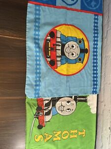 2 Double Sided Thomas the Train Pillowcases Terence Vintage Bedding Pillow