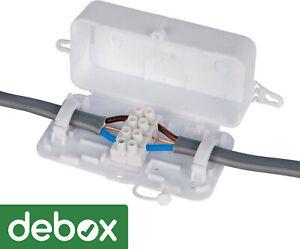 Hylec DEKSB-002 DEBOX In-Line Connector Box Junction Box 4 Pole Terminal Block