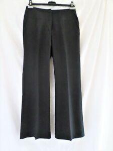 South Black Boot Cut Trousers Wide Leg Waist Size 10 - 14 Short