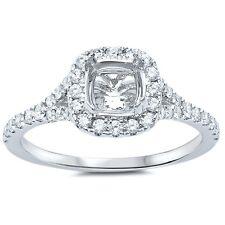 .38cts F VS2 Princess Cut Diamond Semi Mount Engagement Ring Size 6.5