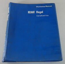 Werkstatthandbuch / Workshop Manual Reliant Regal Mark I Baujahr 1962-1968