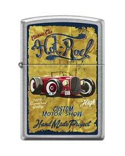 Zippo 207 VINTAGE HOT ROD classic car custom motor show poster RARE Lighter