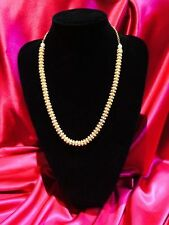 Bollywood Indian Bridal Necklace Jewellery Pearls Set In Gold Metal Party #R99