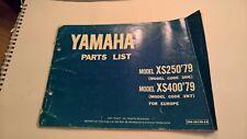 Used Genuine Yamaha Parts List 3N6-28198-E5 XS250 XS400 79 3N6 3N7