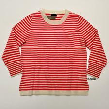 J.Crew Striped Crewneck Sweater In Everyday Cashmere NWT Size: S M L XL XXL