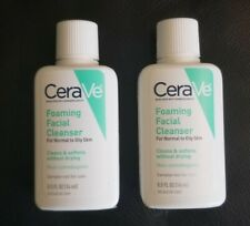 CeraVe Foaming Cleanser Travel/Sample Size 0.5 oz Normal to Oily Skin x 2 tubes
