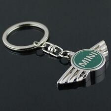 Key Chain Metal Keychain Key Ring oval frame Green for Mini Cooper