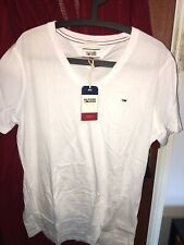 Tommy Hilfiger Mens  Short Sleeve 100% Cotton t shirt Navy Blue Size Large NEW