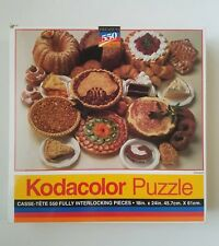 """1994 Kodacolor 550 Piece Jigsaw Puzzle """"Desserts"""" NEW By Roseart"""